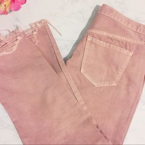 New With Tags Pink Crop Pants Jeans.